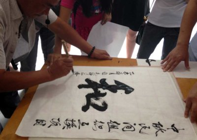 NGO exchange Programm Calligraphy