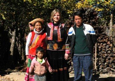 Nora besucht ländliche Projekte in China/ Yunnan